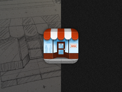 Deals icon business window deal ios awning restaurant icon app