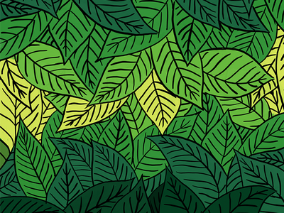 Lost in the Leaves jungle plant organic palm leaf palm leaves leaves procreate illustrator leaf palm tree illustration
