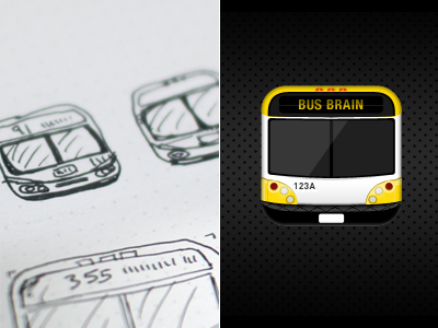 bus brain navigation metro transit ios bus iphone app icon
