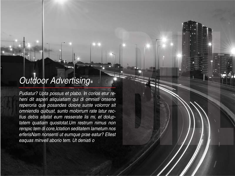 Brochure black white brochure overlay city advertising photography billboard