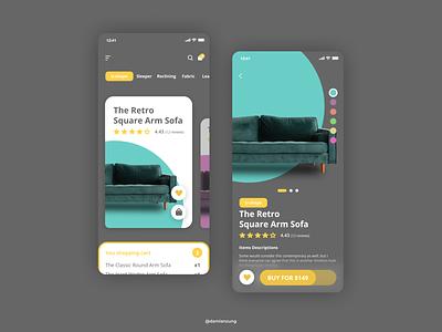 Ecomerce Sofa App Design web design web vector app design graphic design typography design ui ux art