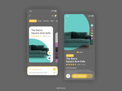 Ecomerce Sofa App Design