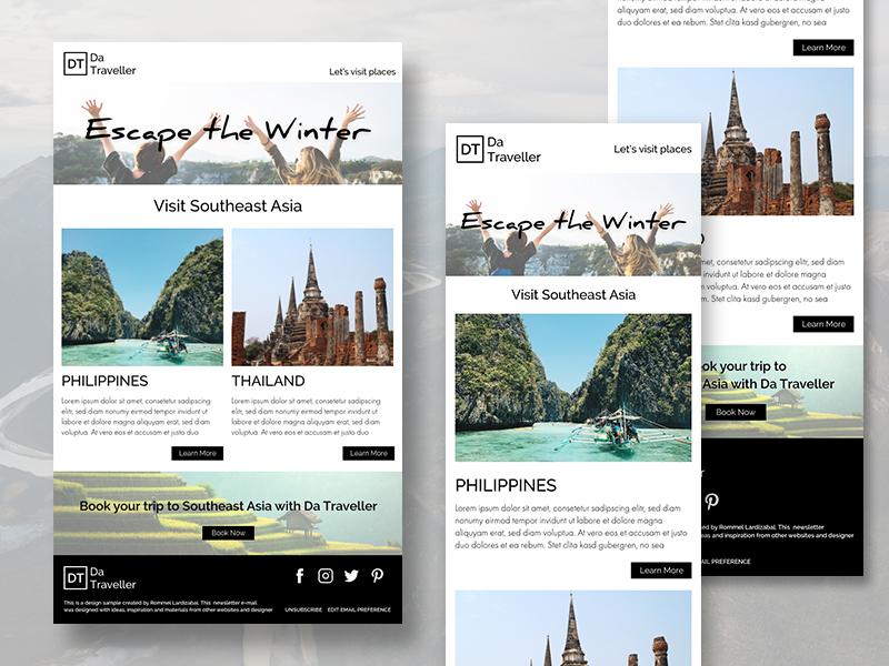 Travel Newsletter design email newsletter newsletter newsletter design email ux ui design