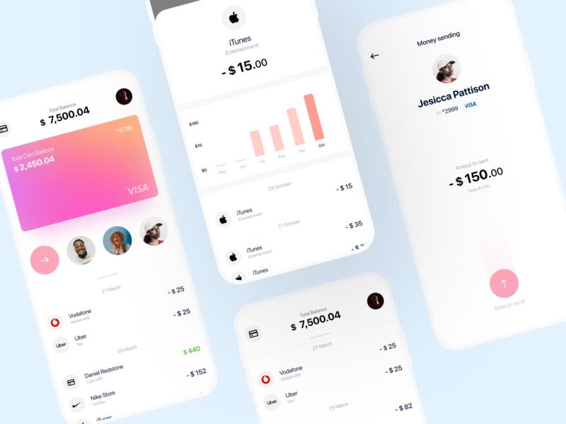 Corona-Bank - Mobile Banking UI Concept