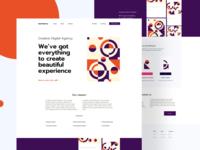 Digital creative studio - landing page