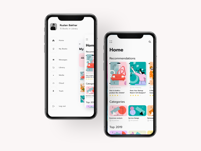 Books app prototype motion lviv figma books detail page prototype animation navigation menu homepage prototype animation illustration minimalistic bookapp