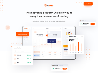 Platform for Forex Trading - Exchange Page platform fintech money trading ui dashboard exchange forex figma design