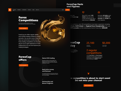 FXOpen - Forex Competions money gradient 3d black trading competitions forex ux ui figma design