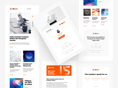 FXOpen - Email Template newsletter typography branding figma design email template forex trading