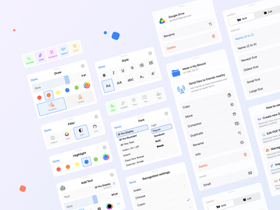 ScanHub - Tools and Popups design ios app figma scanhub document edit popups