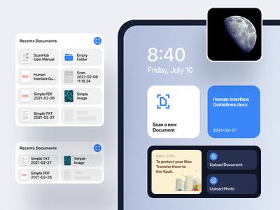 ScanHub - iOS Widgets scanhub figma ui quick access design documents file widgets ios