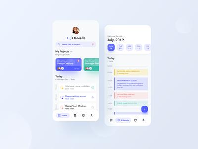 Time Management Concept design vector task manager app mobile time management flat iphone x ux ui figma