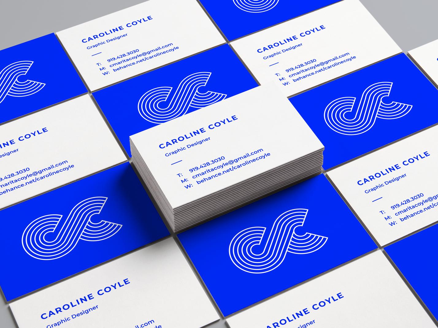 Business Card initials cc graphic designer logo print design logo design business card branding logo graphic design