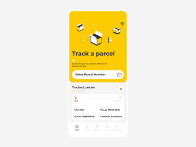 Sending a parcel with AR shipping package aep product mobile design prototype augmentedreality augmented ar ux animation app ui