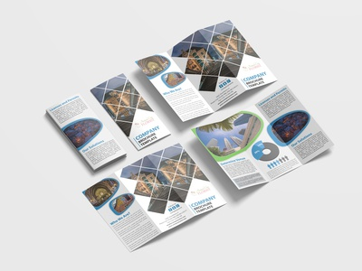 Tourist Holiday Tri Fold Brochure Design Template