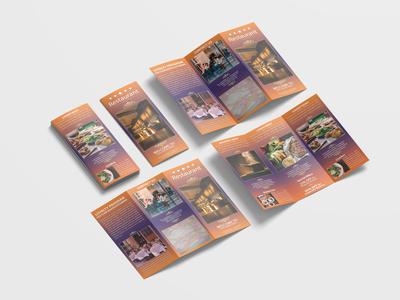 Traditional Restaurant Tri Fold Brochure Design Template