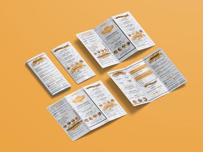 Attractive Cafe Menu Bi Fold Brochure Design Template