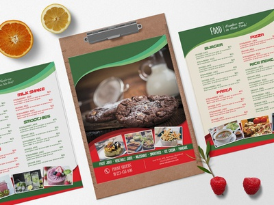 Bakery Menu Bi Fold Brochure Design Template