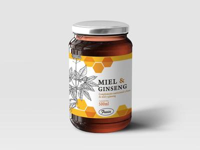 Free Premium Honey Jar Glass Bottle Mockup