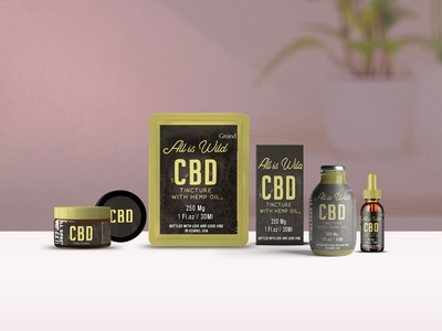 Cbd Products Scene Mockup
