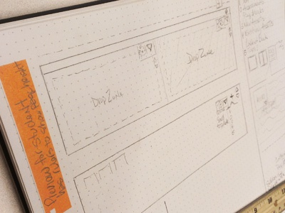 Dribbble wireframing