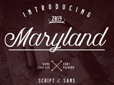 Maryland - Hand Crafted Font
