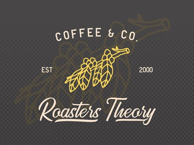 Coffee Logo - Golden Gate Font