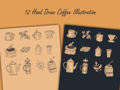 Hand Draw Coffee Illustrations