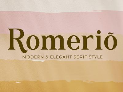 Romerio - Modern & Elegant Serif Style