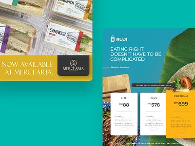 RUJI.CO - Poster Design clean logomark logo design delivery food healthy branding minimal minimalism poster design poster