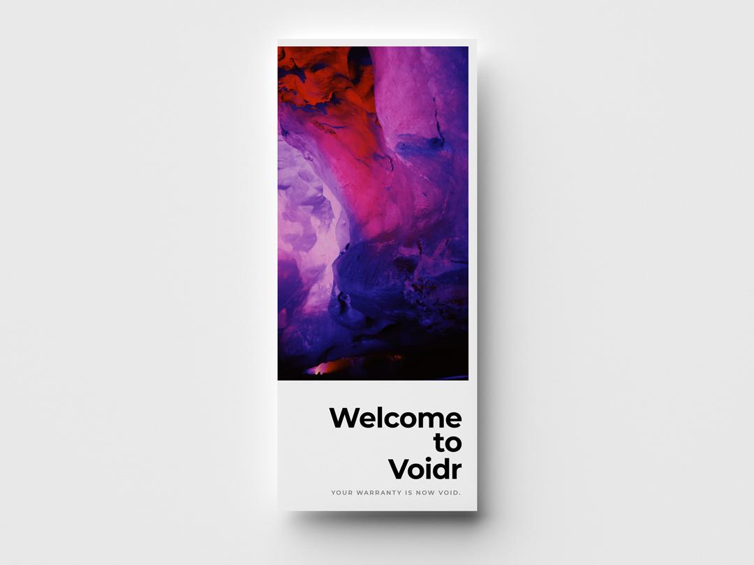 Voidr - Brochure Design typography design simple modern clean minimal adobe branding minimalism sans serif type brochure mockup brochure design brochure