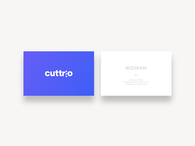 Cuttrio - Namecard Design