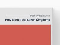 Targaryen - Book Cover Design