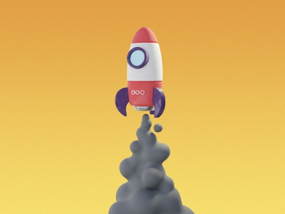 Rocket Launch 3d model launch smoke rocket blender3d b3d blender 3d art 3d