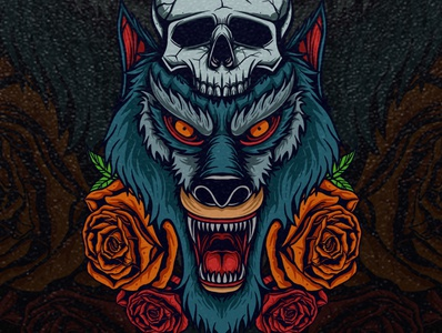 Wolf head T shirt Design