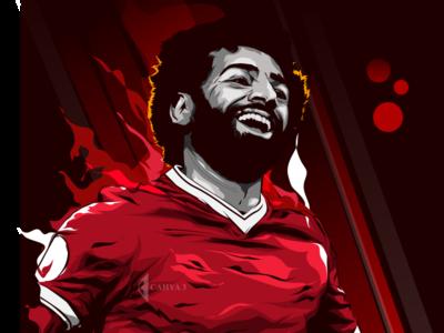 Mohamed Salah vektor art