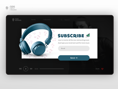 Subscribe | Daily UI Challenge 026
