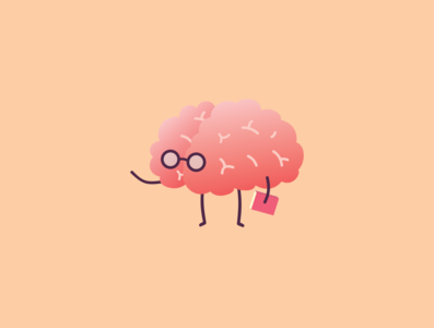brain flat design clean design design organ brain ai illustration