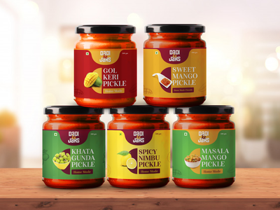 Dadi Ke Jars - Branding & Packaging logo designer flat illustration logo designs pickle packaging jar packaging jar design jars packaging mockup packaging design traditional indian designer pickle package designer package design packaging indian design logodesign logo logo design design