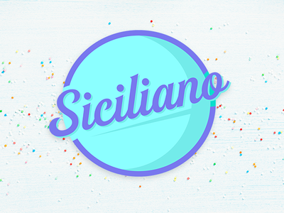 Siciliano - Branding typography logo design concept branding and logo icecream logo ice cream gelato siciliano branding ice cream brand logo design logo
