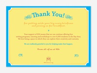 826 Thank You Card