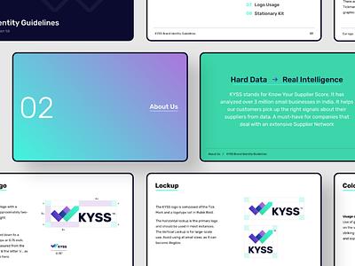 KYSS.AI - Visual Identity Design visual identity design logo branding