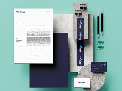 KYSS.AI Stationary Kit logo design design logo branding