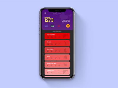 Covid - 19 Tracker Ui Design typography app design