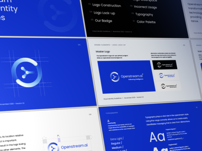 Openstream.ai Brand Identity Design typography logo design design logo branding