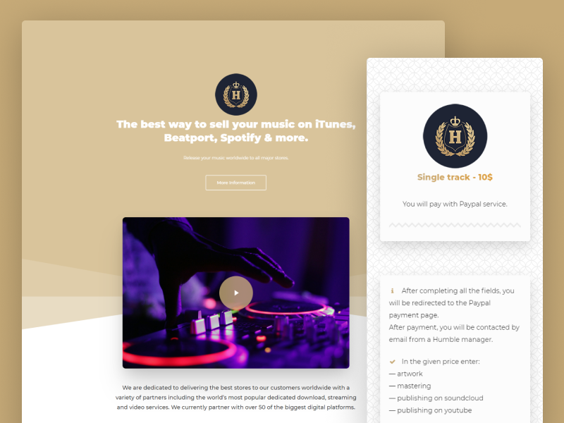 Humble Records by Designal Pro on Dribbble