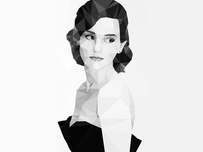 Emma Watson Polygonal Illustration illustration design triangle triangulation lowpoly polygon polygonal emma watson