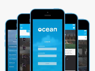 Ocean App Concept app design ui ux branding interaction ocean logo ios vancouver
