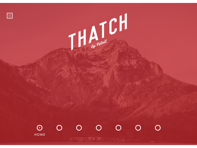 Thatch - initial design web design design ui ux interaction wip website graphic thatch vancouver canada