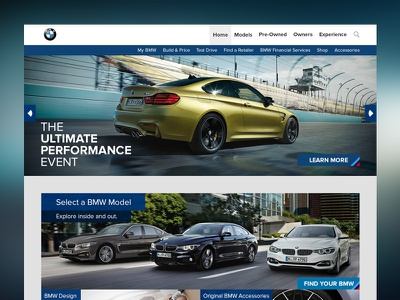BMW Website Redesign bmw redesign website web design ui ux